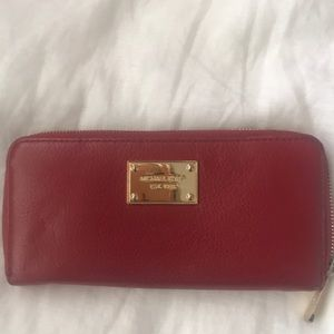 Michael Kors Red Wallet